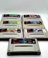 Super Nintendo Games Bundle - 7 SNES GAMES All Tested and Working - SNES Bundle