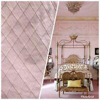 NEW SALE! Designer 100% Silk Dupioni Quilted Fabric - Rose Pink LLSUP0001