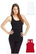 Polyester Basic Tees Sleeveless T-Shirts for Women