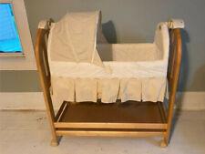 New listing Eddie Bauer white baby Bassinet with wheels