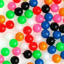 100Pcs Fishing Beads Round Shaped Plastic Bead Carp Fishing Bait Lures Glow 6mm