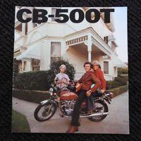 GENUINE 1976 HONDA 500 CB500 CB500-T MOTORCYCLE SALES BROCHURE VERY NICE SHAPE
