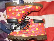 Girls rare vintage  Orange flower Dr Marten boots size 10   (Nov15)