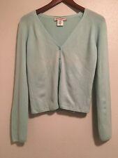 Maria Di Ripabianca Blue Cashmere Long Sleeve Cardigan Size 6