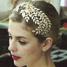 1920's Gold Leaf Headdress Headpiece Hair Acc Vine Crown Grecian Bridal Jewelry