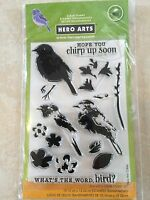 Hero Arts Clear Acrylic Stamp Color Layering Bird & Branch Set CL866 NEW