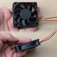 60mm Mini Computer PC Black Case 3 Pin 12V 0.2A Cooler Cooling Fan 60x60x15mm
