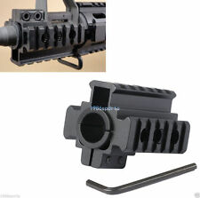 "New Weaver Picatinny 7/8"" 20mm Tri-Rail Barrel mount For Rifle scope Lights Y62"