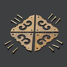 Jewelry Box Chest Trunk Case Decorative Corners Bracket Furniture Hardware 4Pcs
