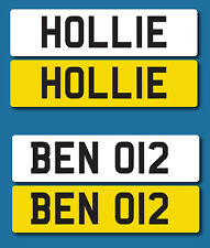 2x Adhesive Number plates for childrens toy car