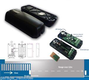 Wireless Battery Safety Beam Infrared Photocell Gate Sensor Reflector Detector
