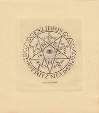 4 Exlibris Bookplate Kupferstiche Alfred Cossmann (1870-1951) Konvolut Lot