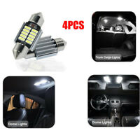 4x 6V DC Auto LED 12 SMD Soffitte 42mm Weiß C10W Car Innenraum Beleuchtung 6000K