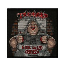 Tankard A Girl Called Cerveza Patch Cover Art Metal Music Woven Sew On Applique