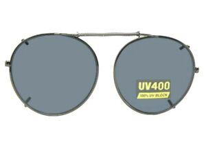 Semi Round NON Polarized Clip-on Sunglasses