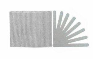 "50 pc Acrylic Nail File Emery Board ZEBRA 80/80  Grit Gel 7""  MADE IN USA"