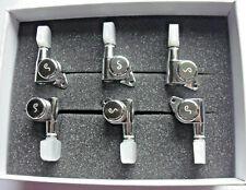 Schaller M6 Locking Tuners staggered 135° 6 links Chrome, Perloid-Flügel