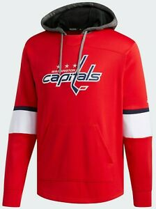 NHL Adidas Washington Capitals Platinum Pullover Hoodie Sweatshirt 2XL NWT 118CA
