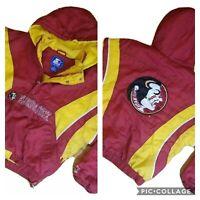 Vintage 90s STARTER Florida State Seminoles Pullover 1/2 Zip Men's Jacket XL