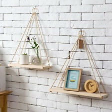 Wooden	Floating Shelf Wall Mounted Swing Storage Rack Holder Display Home Decor