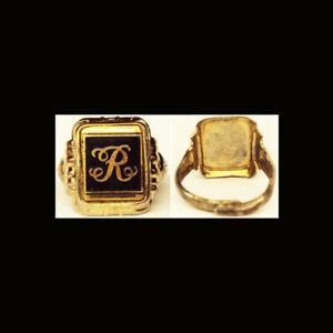 Rare 1950's Bazooka Joe Bubblegum Mailaway Premium Initial Ring Letter R