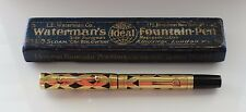 Vintage WATERMAN 0552 Overlay  Fountain Pen  Flexy Nib Boxed Restored