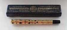Vintage WATERMAN 0552 Overlay  Fountain Pen  Flexy Nib Boxed Restored