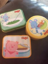 New Haba Wooden Role Play Toys - x3 Tins