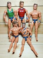 "Vintage Max Steel 12"" Action Figure Lot of 5 1998 Mattel Articulated Red Green"