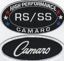 CHEVY RS/SS CAMARO SEW/IRON ON PATCH EMBLEM BADGE EMBROIDERED CAR