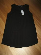 LADIES CUTE BLACK POLY/VISCOSE SLEEVELESS TOP/ DRESS BY KATIES SIZE S 12/14 NWT