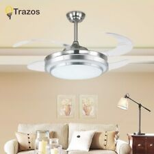 Invisible Ceiling Fan With Lights For Living Room Blade Remote LED Ceiling Fans