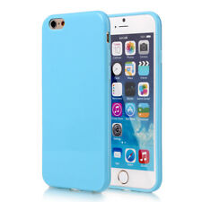 SILICONE SOFT RUBBER GEL CASE COVER SCREEN FOR IPHONE 7 8 Plus Blue
