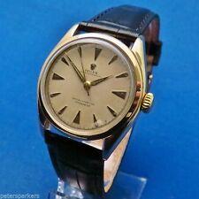Rolex Genuine Leather Strap Round Wristwatches