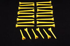 "Performance Plastic GOLF TEES Combo pack (2.75"" & 1.75"") LOT of 24 - YELLOW"