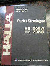 Halla Excavator (HE 200W / HE 205W) - Parts Catalogue