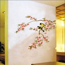 Precioso FLOR ÁRBOL Pájaros Vinilo Decoración hogar Adhesivo De Pared Decorativo