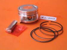 Piston 63.5 mm Bore flat top Rings Wrist Pin Clips Kit Honda XL XR 185 Motocycle