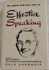 DALE CARNEGIE The Quick & Easy Way to Effective Speaking: HC/DJ 1974