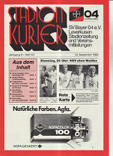 BL 83/84 Bayer 04 Leverkusen - Hamburger SV