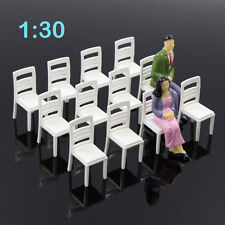 ZY15030 12pcs Model Train Railway Leisure Chair Settee Bench Scenery 1:30 G