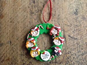 Personalised Christmas Decoration Wreath Faces Handmade Tree Xmas Family Festive