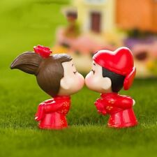 Weeding Bride And Bridegroom Miniatures Figurines DIY Home Garden Decorations Z