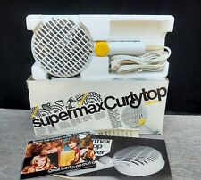 Vintage Gillette Supermax Curly Top Hair Dryer 9090 TESTED 1978 70s SEE VIDEO