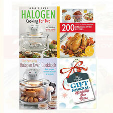 Halogen Cooking For Two 3 Books Collection Set 200 Halogen Oven With Journal New