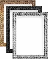 Modern Retro Bright/Mirror Effect Mosaic Picture Photo Poster frame Multi Sizes
