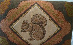 "Acorn Gap Squirrel Seat Foot Stool CUSHION ONLY 16"" x 10"" Vintage NO LEGS"