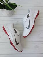 MEN'S SIZE 8 Nike Tiger Woods '17 Golf Cleats 880955-100 golf shoes White Red