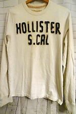 Size M Hollister Southern CA White Long Sleeved White T Shirt Grubby Look