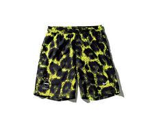 Nike F.C.R.B. GAME SHORTS sz L LARGE VOLT black leopard lime REAL BRISTOL FCRB